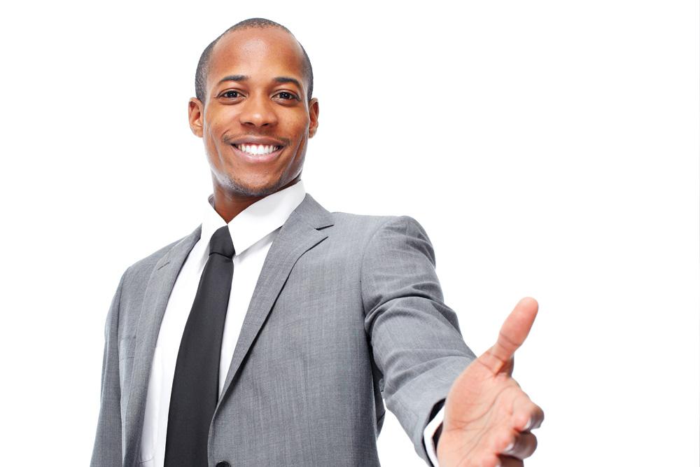 Photo d'un hôte d'accueil en costume